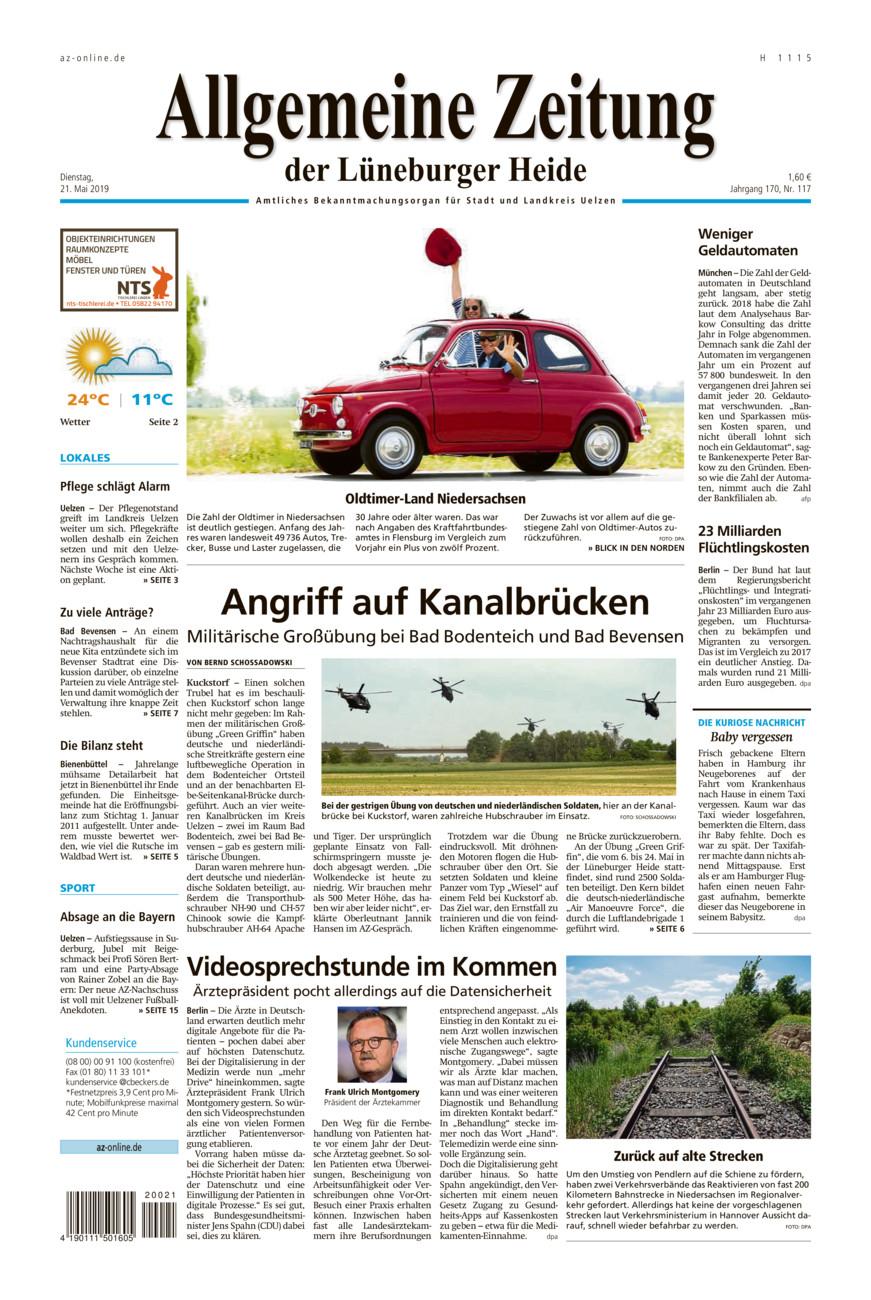 Allgemeine Zeitung vom Dienstag, 21.05.2019
