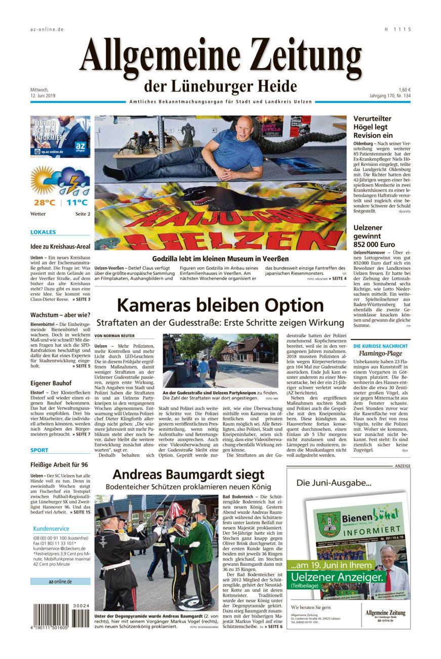Allgemeine Zeitung vom Mittwoch, 12.06.2019