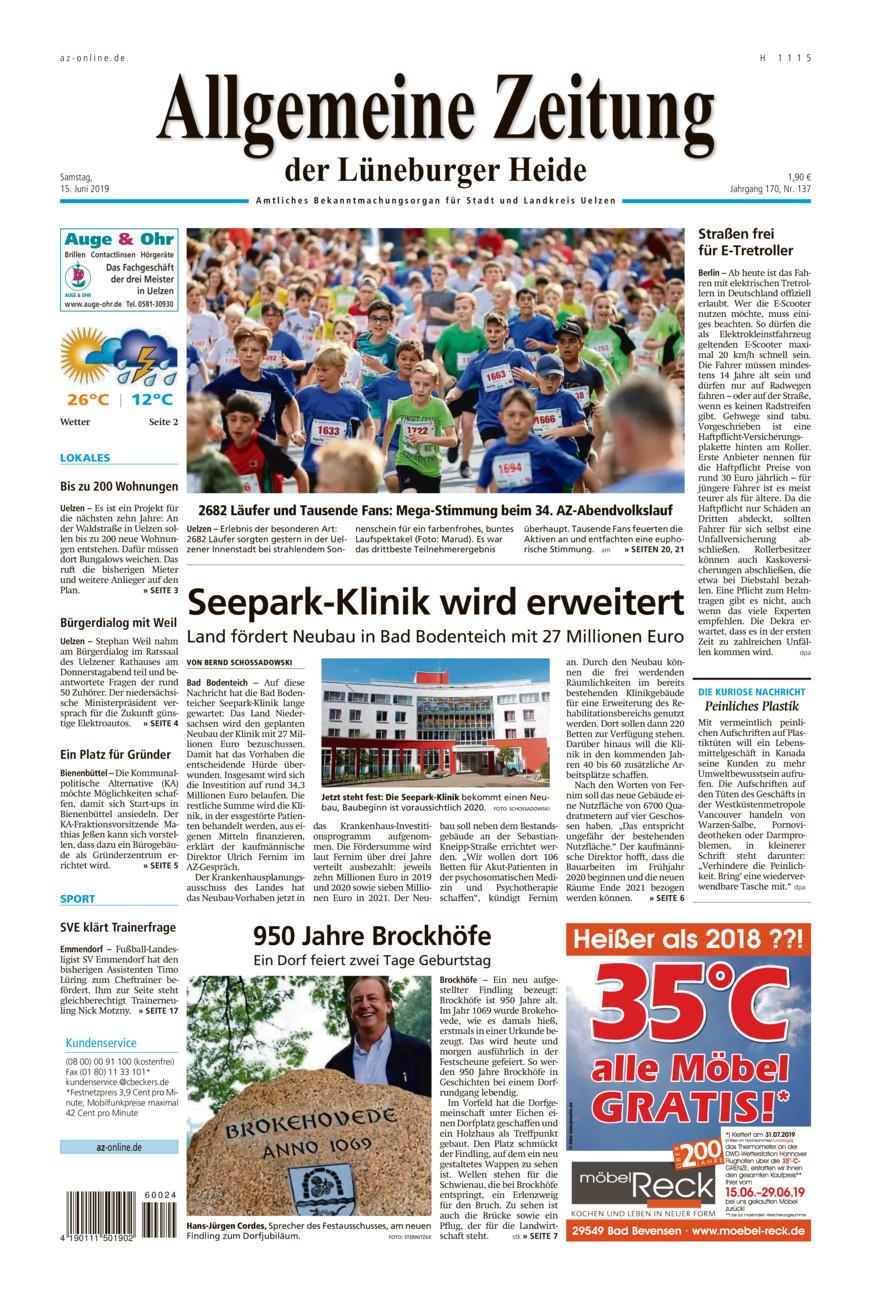 Allgemeine Zeitung vom Samstag, 15.06.2019