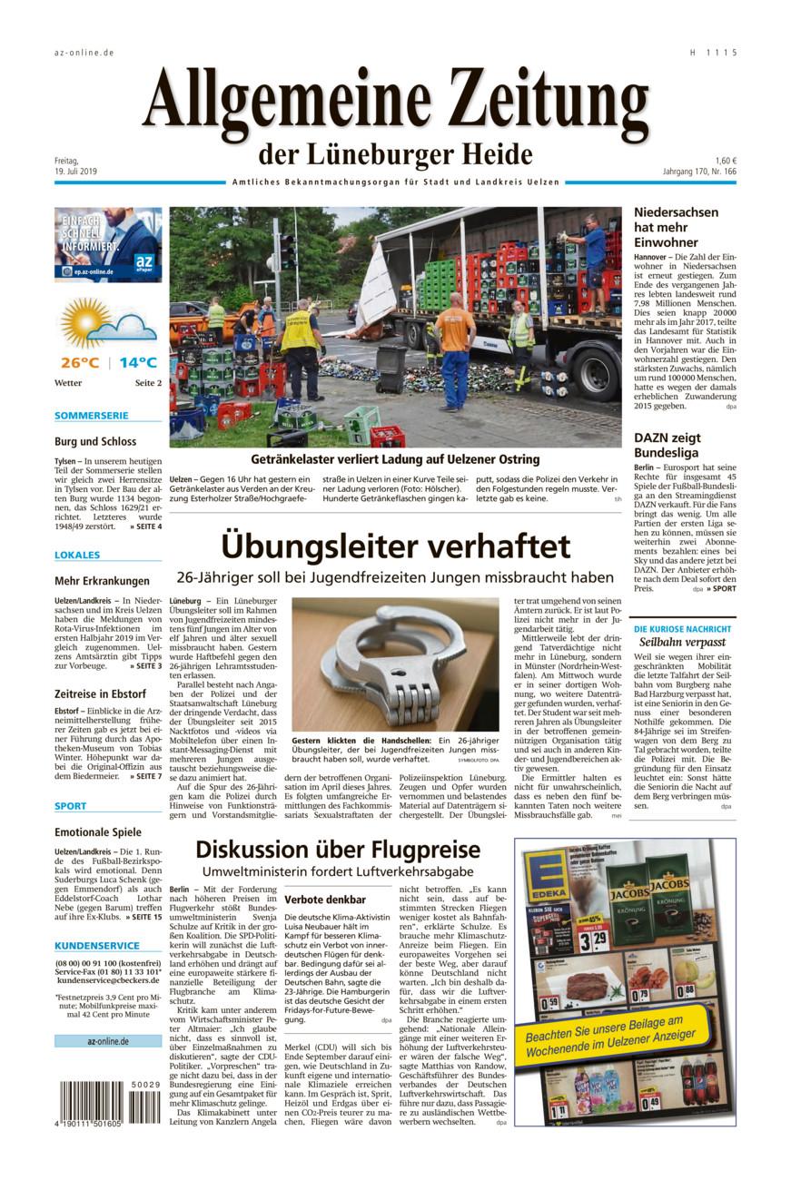 Allgemeine Zeitung vom Freitag, 19.07.2019