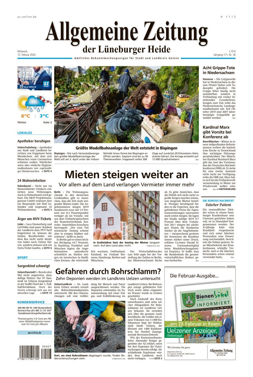 Allgemeine Zeitung vom Mittwoch, 12.02.2020