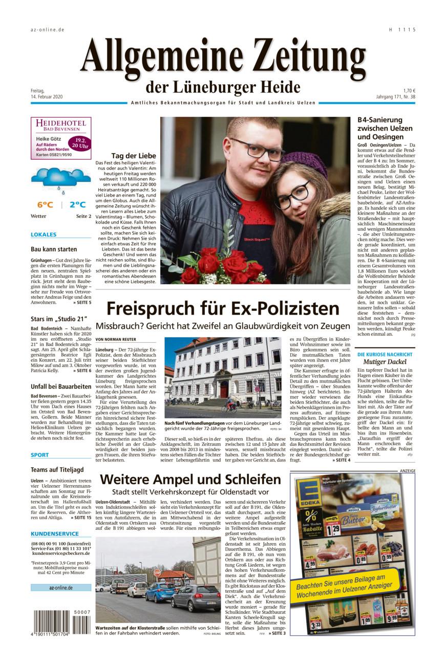 Allgemeine Zeitung vom Freitag, 14.02.2020