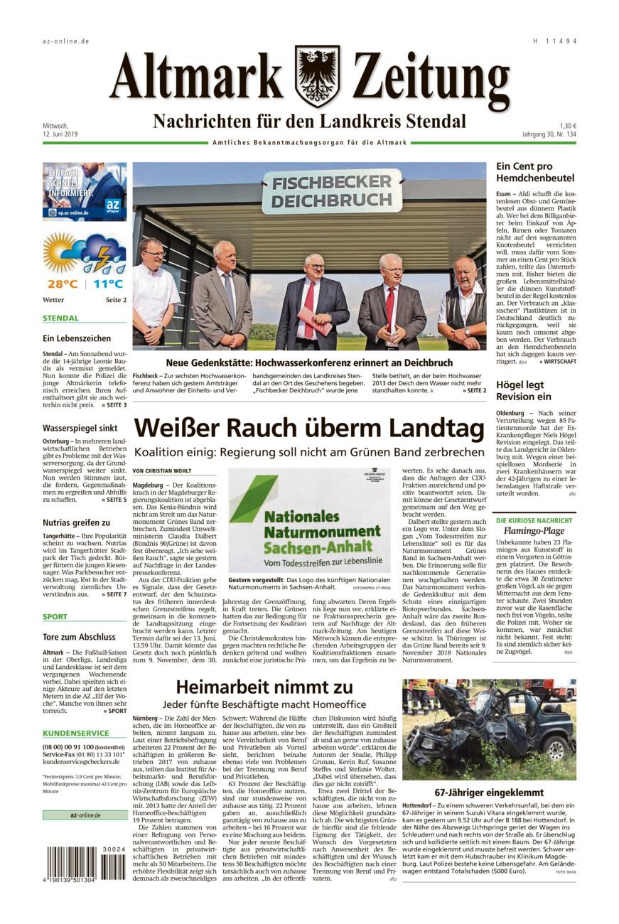 Landkreis Stendal vom Mittwoch, 12.06.2019