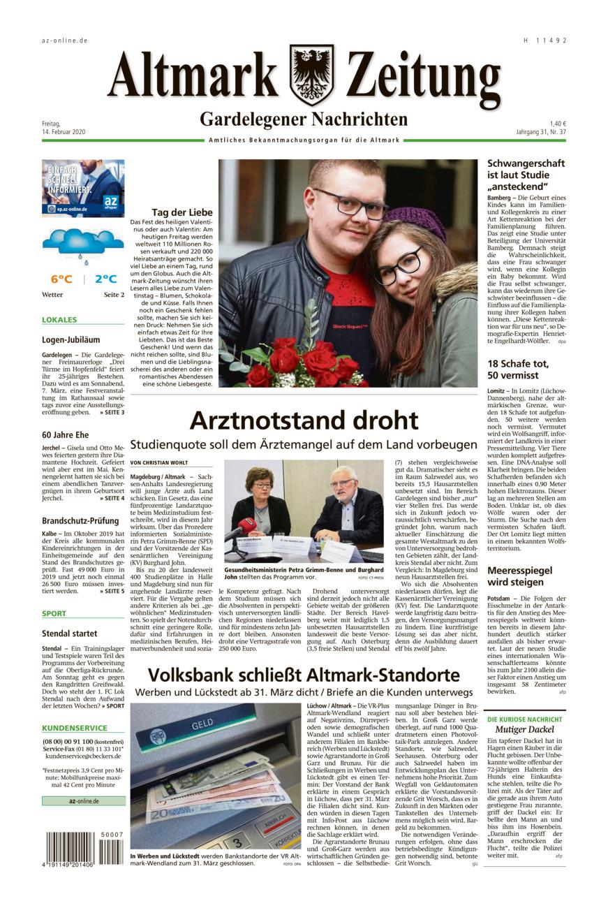 Gardelegener Nachrichten vom Freitag, 14.02.2020