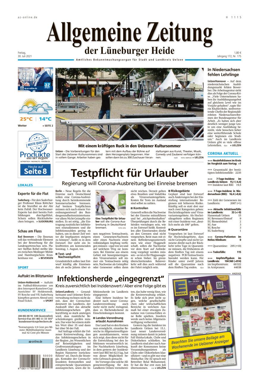 Allgemeine Zeitung vom Freitag, 30.07.2021